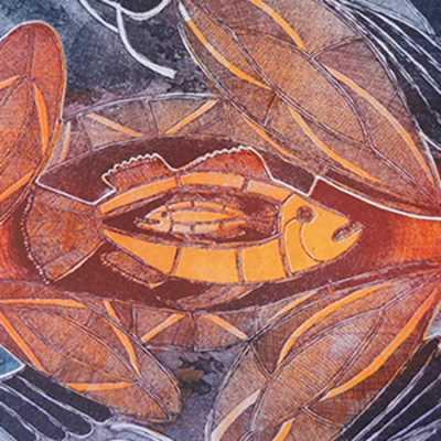 Fisch in Fisch im Waran